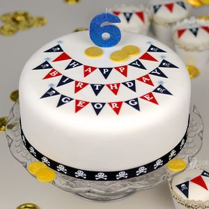 Pirate Bunting Birthday Cake Decorating Kit