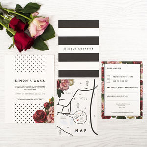 'Dotty About You' Wedding Invitation - personalised