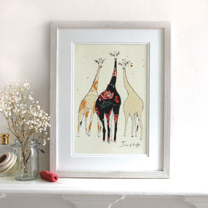 A Tower Of Giraffes Print