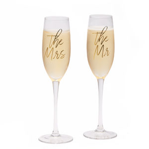 'Mr And Mrs' Champagne Flutes