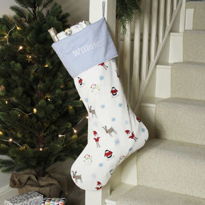 Festive Character Christmas Stocking