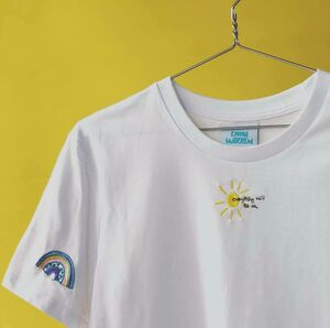 Embroidered Sun Rainbow T Shirt