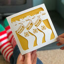 Personalised Christmas Stockings Card