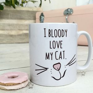 'Love My Cat' Ceramic Mug - stocking fillers