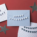 Christmas 3D Bunting Paper Cut Cards