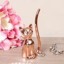 Rose Gold Novelty Adorable Cat Ring Holder