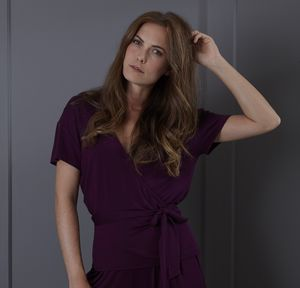 Burgundy Jersey Wrap Top - women's fashion