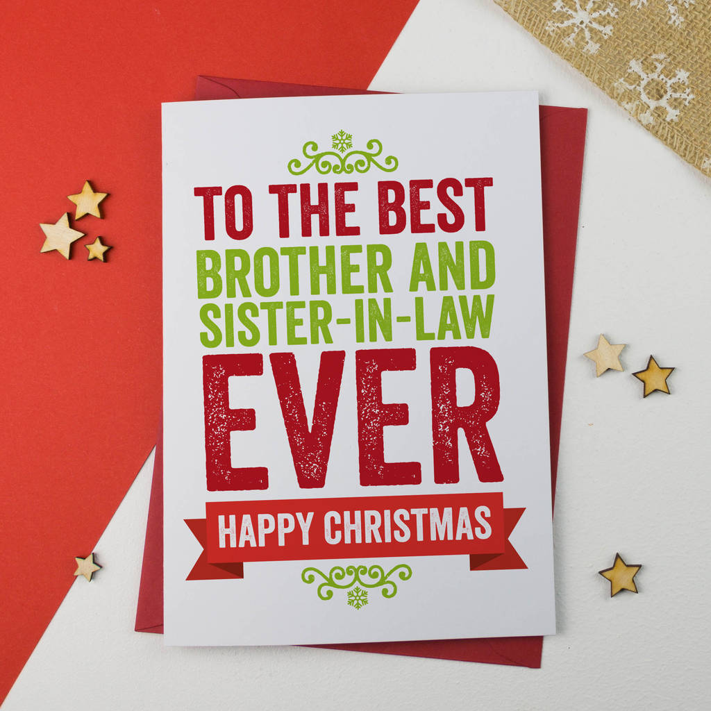 Brother and sister in law christmas card by a is for alphabet brother and sister in law christmas card m4hsunfo