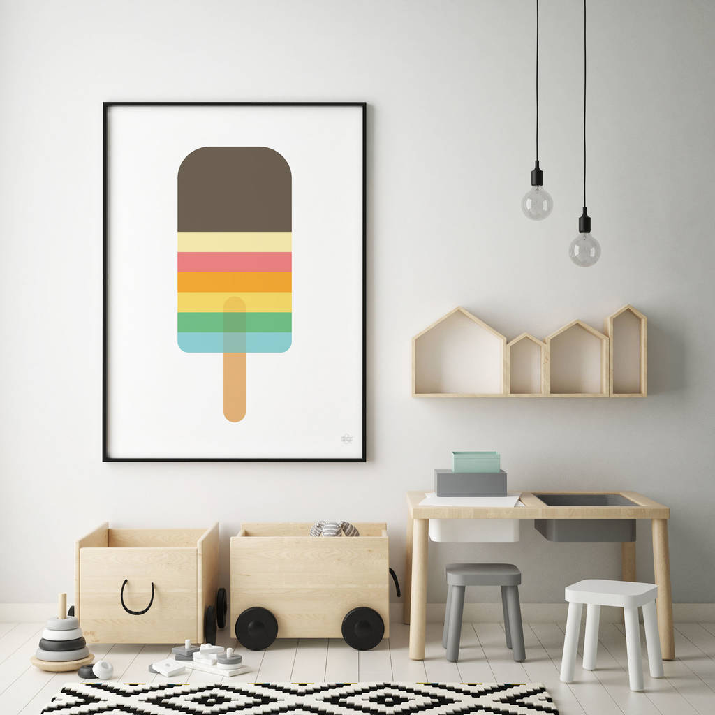 Striped Lolly Print