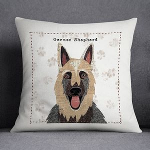 German Shepherd Personalised Dog Cushion Cover - floor cushions