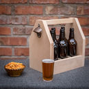 Six Bottle Personalised Beer Caddy
