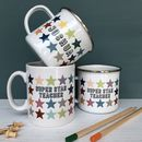 Super Star Teacher Rainbow Star China Mug