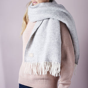 Personalised Lambswool Blanket Scarf - gifts for her
