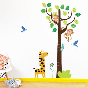 Tropical Height Chart Wall Stickers - wall stickers
