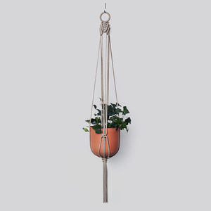 Macrame Plant Hanger 'The Arrow' In Hemp Cord