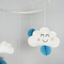 Cloud Mobile With Honeycomb Pom Poms