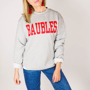 Unisex 'Baubles' Christmas Jumper Sweatshirt - christmas jumpers