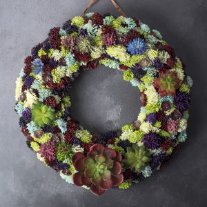 Handmade Artificial Succulent Door Wreath