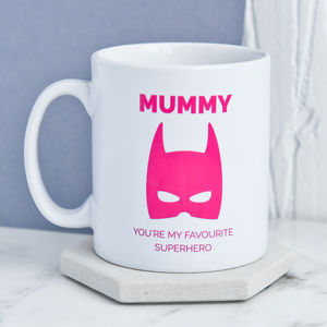 Personalised Mummy Superhero Mug - kitchen