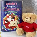 Personalised Christmas Teddy With Story Book