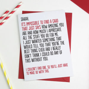 How Amazing You Are Personalised Valentines Card - anniversary cards