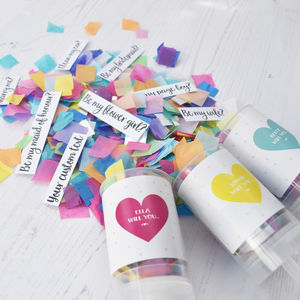 Personalised Secret Question Confetti Pop - be my bridesmaid?