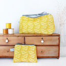 Cow Parsley Coin Purse - Mustard Yellow