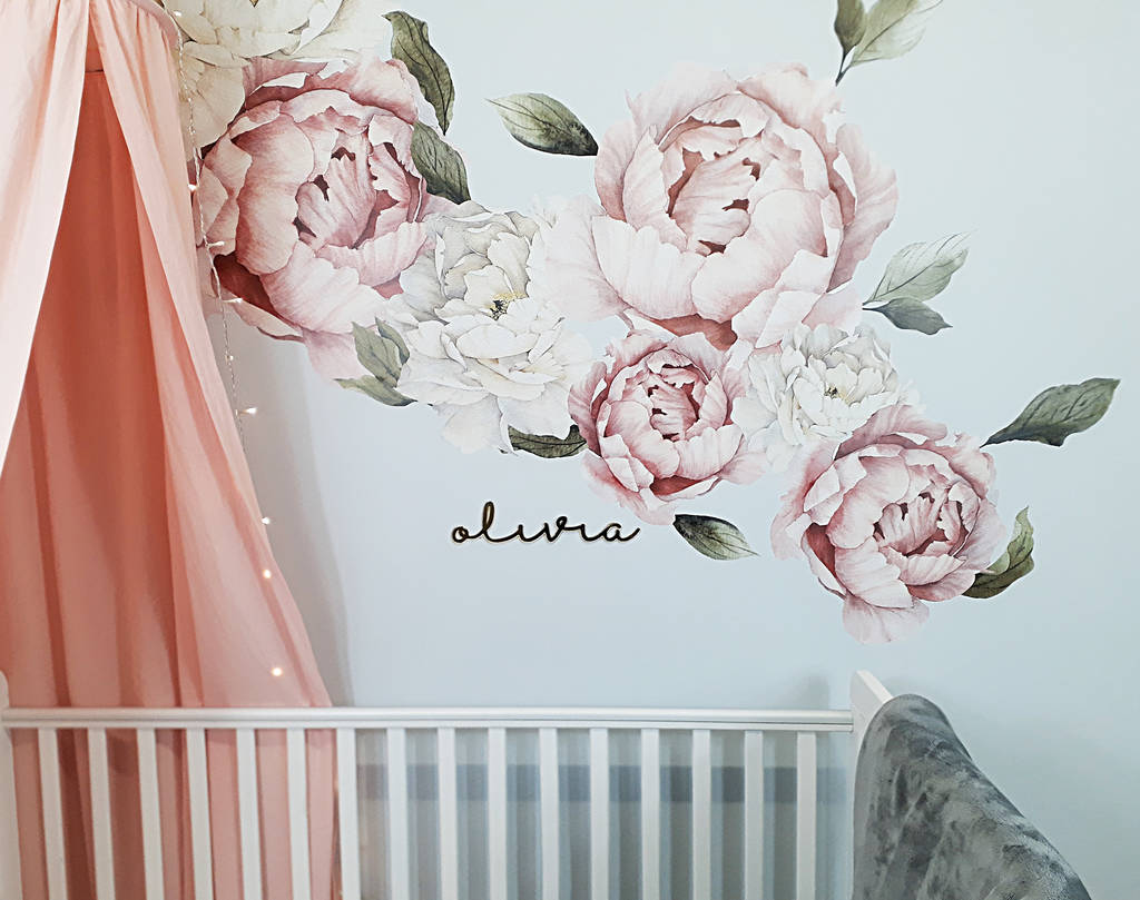 Peony Fabric Wall Stickers By Parkins Interiors