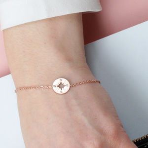 Find Your Way Compass Keepsake Bracelet - rose gold jewellery