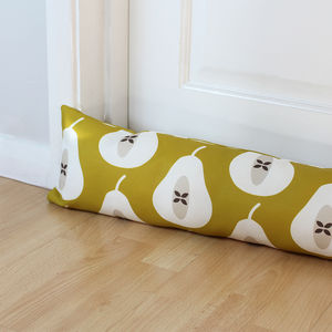 Pear Print Draught Excluder