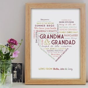 Personalised Grandparent Print - gifts for grandparents