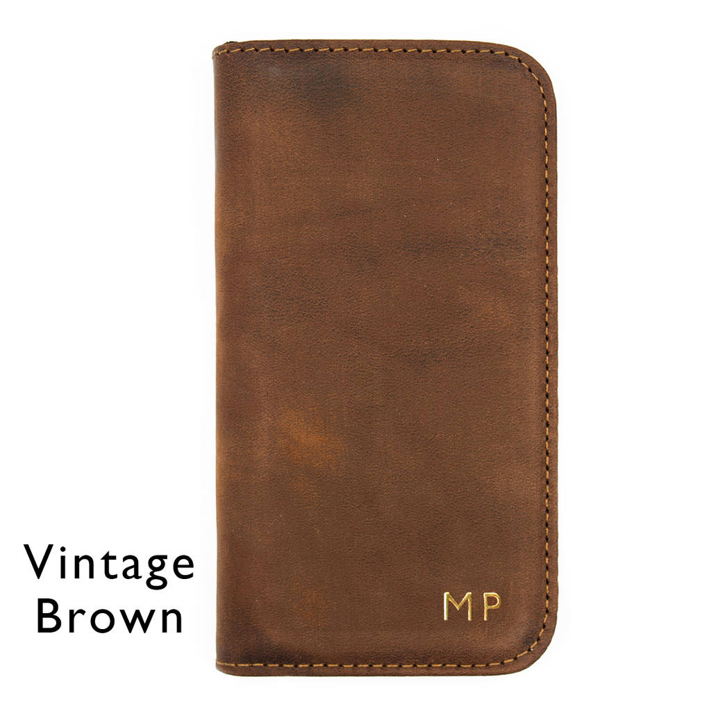 Luxury Leather Personalised Iphone Case Various Colours