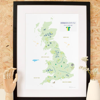 Personalised Football Map Print: Add Favourite Team