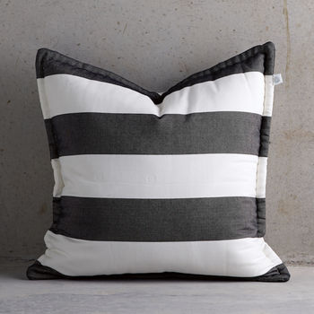 Black And White Stripe Cushion