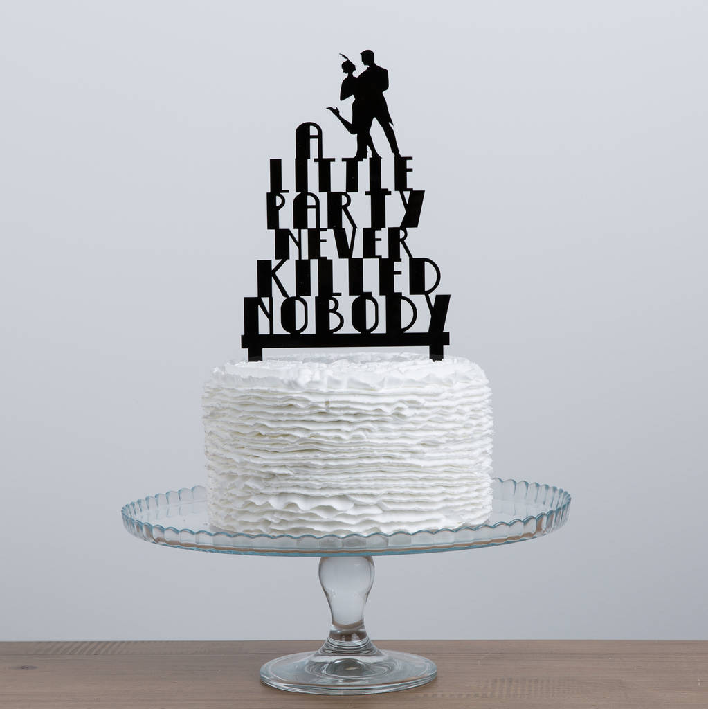gatsby wedding cake toppers great gatsby acrylic cake topper set by funky laser 14655