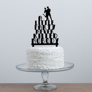 Great Gatsby Party Acrylic Cake Topper Set