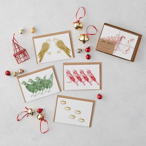 12 Days Of Christmas Card Box Set
