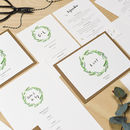 Botanical Wreath Wedding Invitation Set