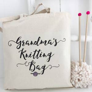 Grandma's Personalised Knitting Bag - new in home