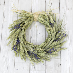 Handmade Lavender Wheat Wreath