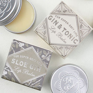 Sloe Gin And Gin And Tonic Lip Balm Duo