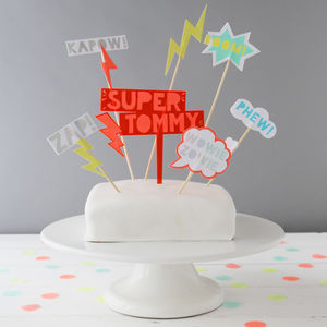 Super Hero Party Cake Toppers