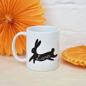 Personalised Bunny Rabbit Mug - easter homeware