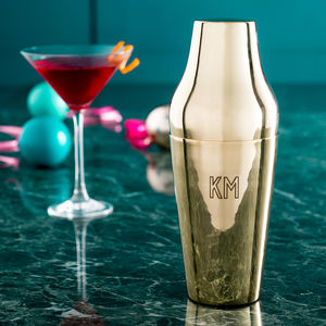 Personalised Initials Brass Cocktail Shaker - gifts for her