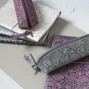 Recycled Paisley Notebook And Pencil Case Set