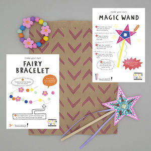 Fairy Party Bag With Wand And Bracelet Kits - for children