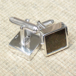Stony Iron Meteorite Sterling Silver Cufflinks - view all father's day gifts