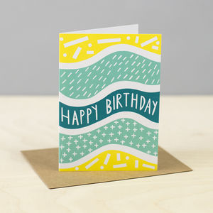 'Cross Dash' Birthday Card