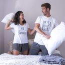 Personalised His And Her Pyjama Set