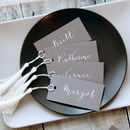 Grey And White Modern Calligraphy Place Tags